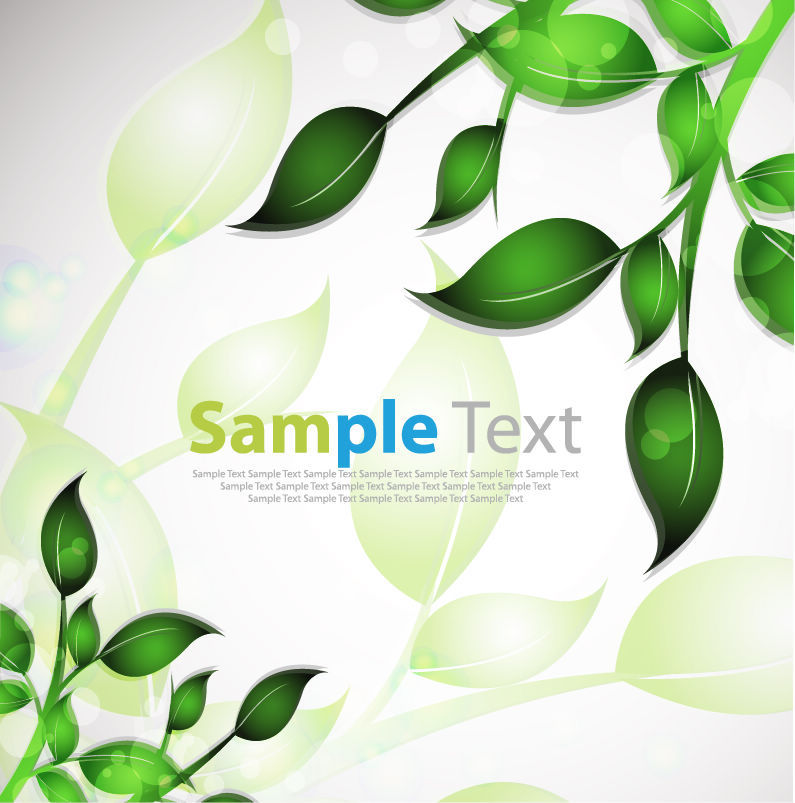 free vector Abstract Background with Leafs