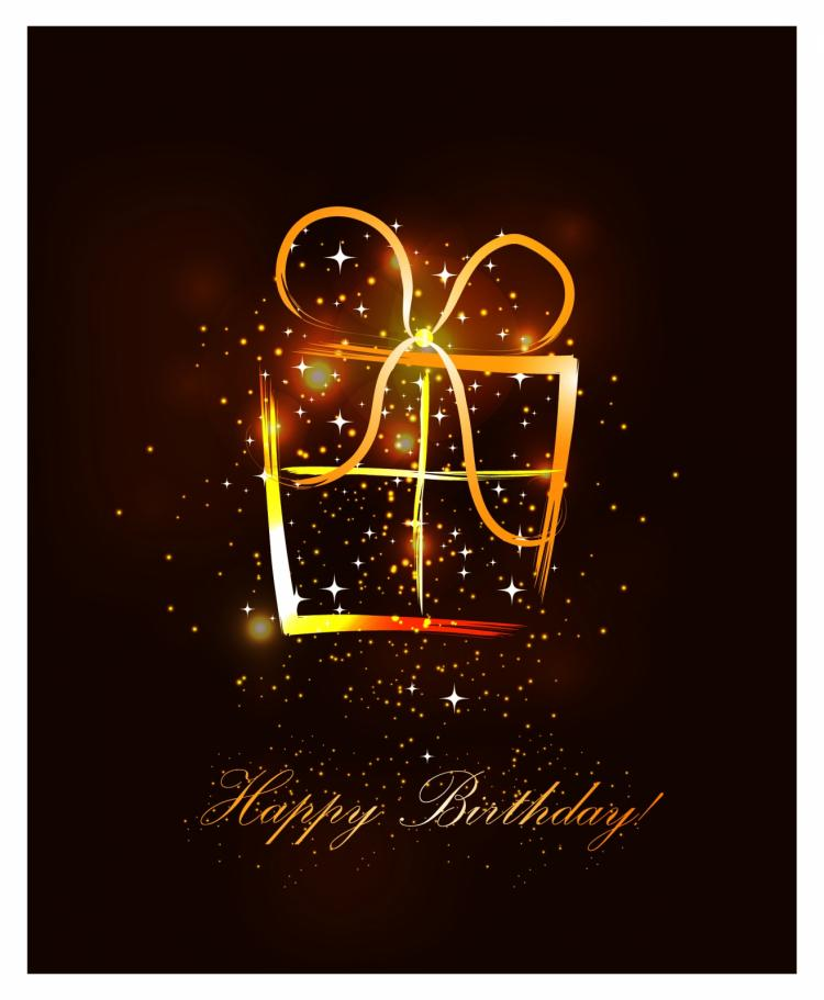 free vector Abstract birthday present