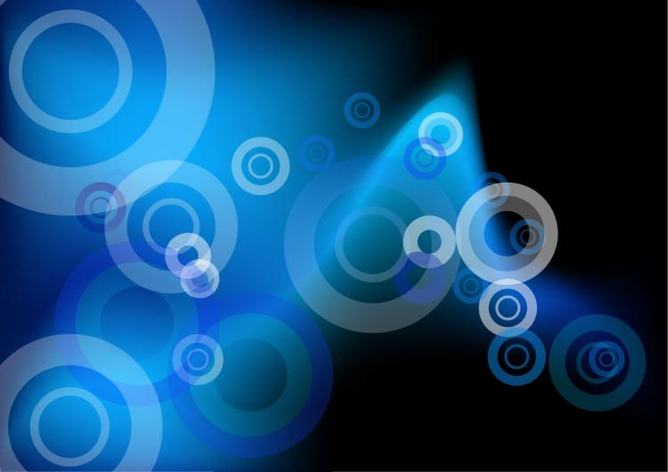 free vector Abstract Blue Circles Vector Background