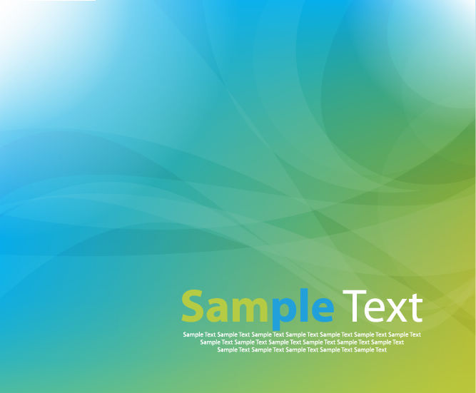 free vector Abstract Blue Green Vector Background