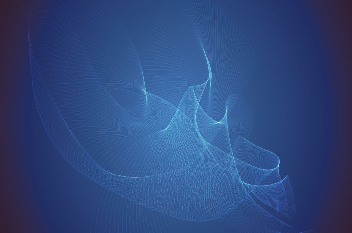 free vector Abstract Blue Wave Vector Illustration
