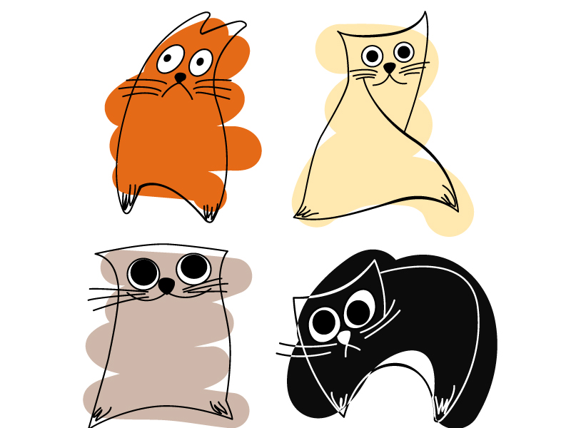 free vector Abstract cat vector