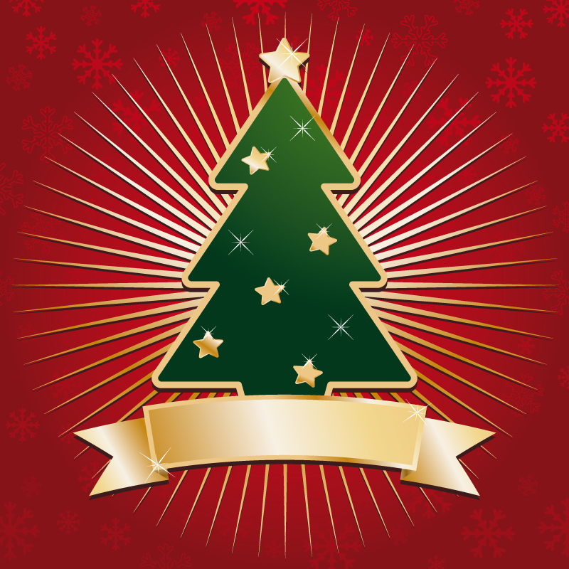 free vector Abstract christmas tree vector