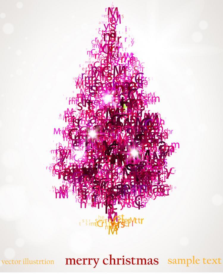 Abstract christmas tree vector Free Vector / 4Vector