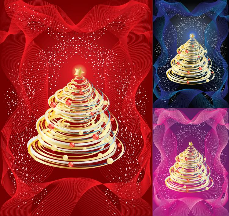 free vector Abstract Christmas Tree