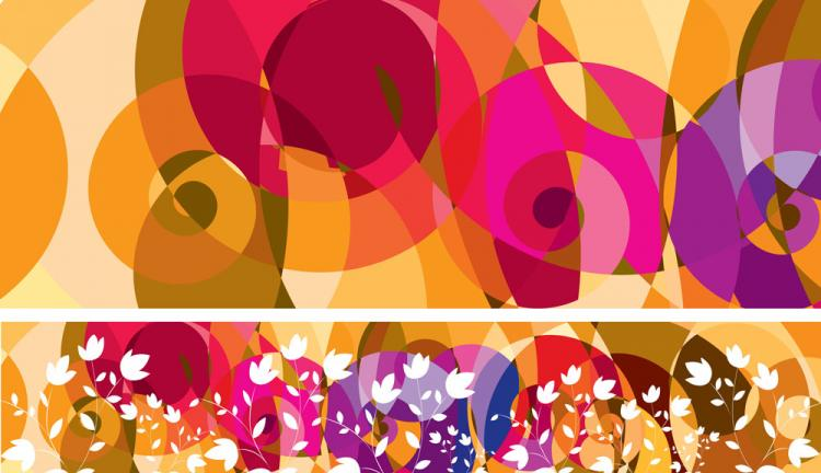 free vector Abstract color patterns 01 vector