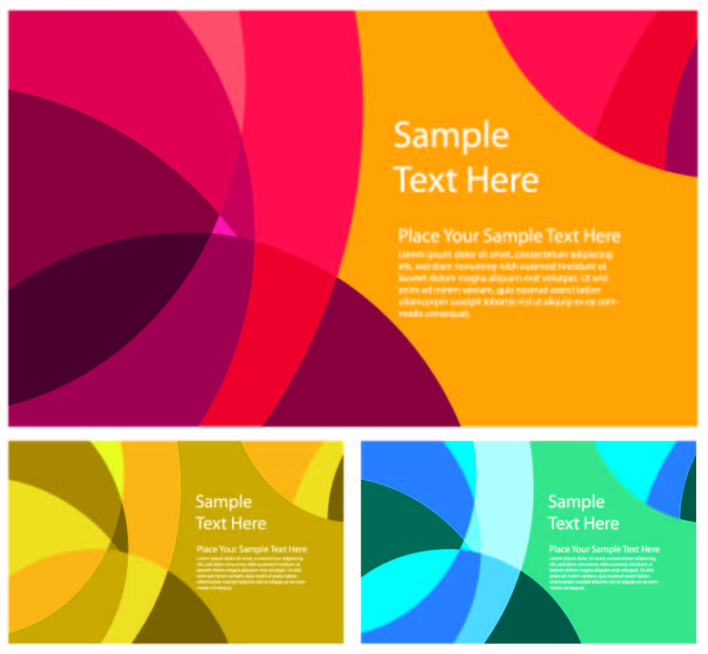 Abstract color patterns 03 vector Free Vector / 4Vector
