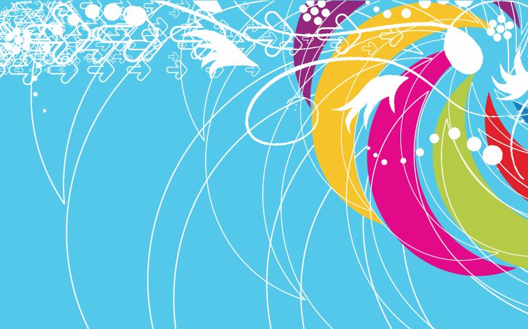 free vector Abstract Colored Background Vector Illustration