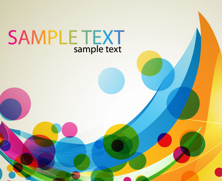 free vector Abstract Colored Design Vector Art