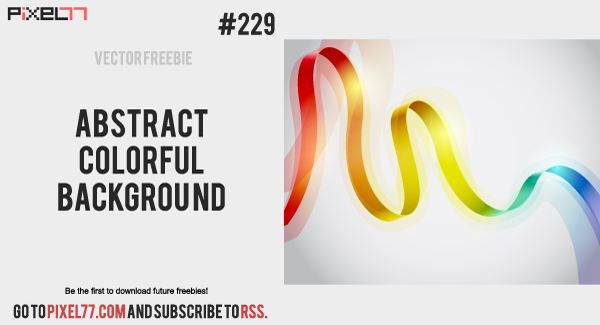 free vector Abstract Colorful Background - Free Vector of the Day #229