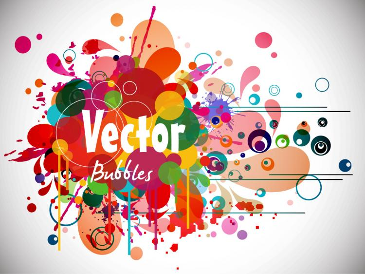 free vector Abstract colorful fashion pattern vector