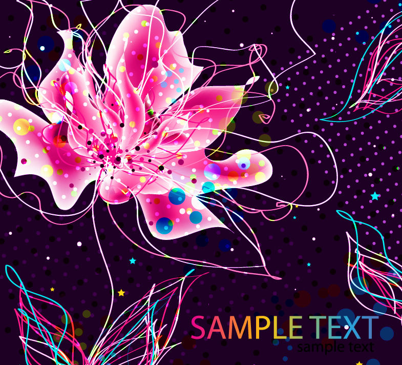 free vector Abstract Colorful Floral Background