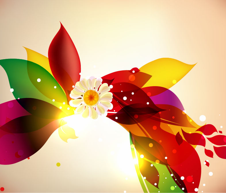 free vector Abstract Colorful Floral Design Vector Background