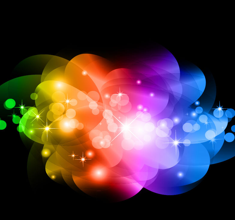 free vector Abstract Colorful Glowing Background Vector Graphic