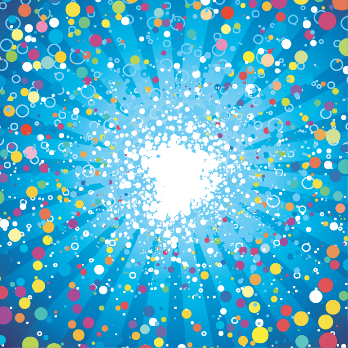 free vector Abstract Fancy Dots Background Vector