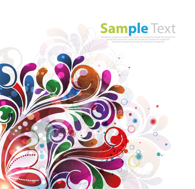 free vector Abstract Floral Background