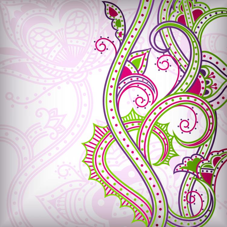 free vector Abstract floral pattern background 02 vector