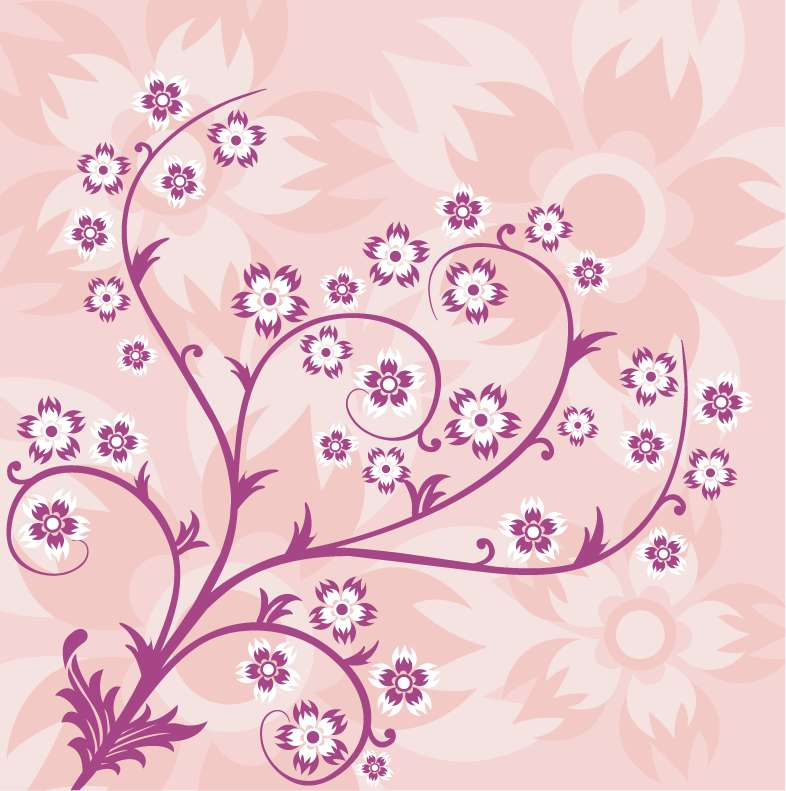 free vector Abstract Floral Pink Background