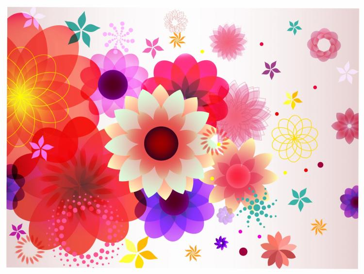 free vector Abstract floral spring background.