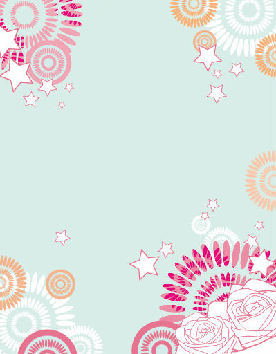 free vector Abstract Flower Vector Background