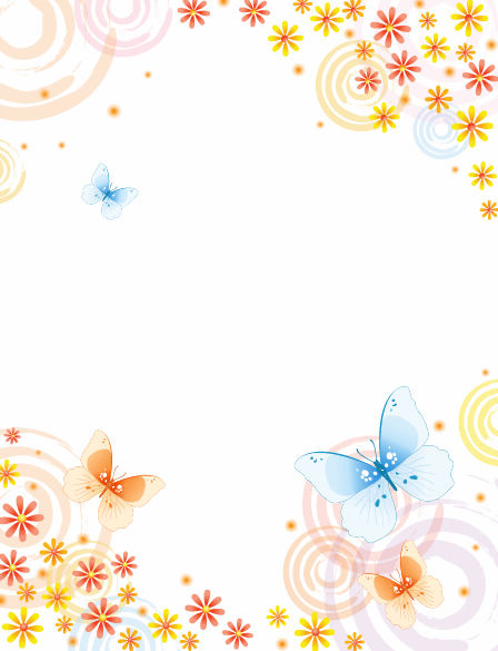 free vector Abstract Flower with Butterfly Vector Background