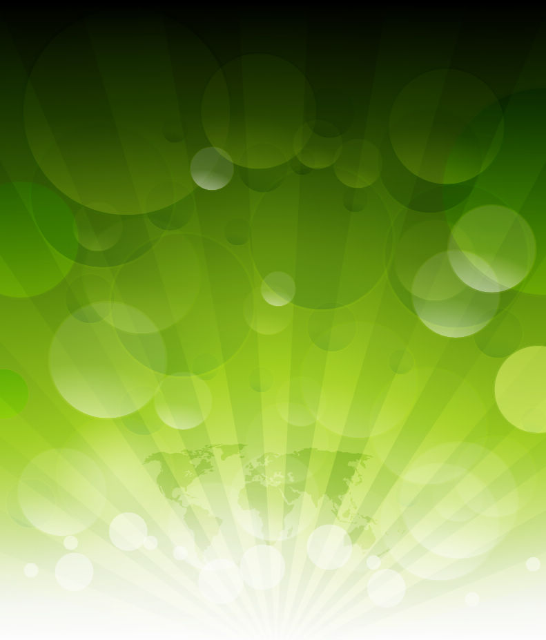 free vector Abstract Green Rays Vector Background