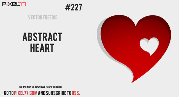 free vector Abstract Heart Vector - Free Vector of the Day#227