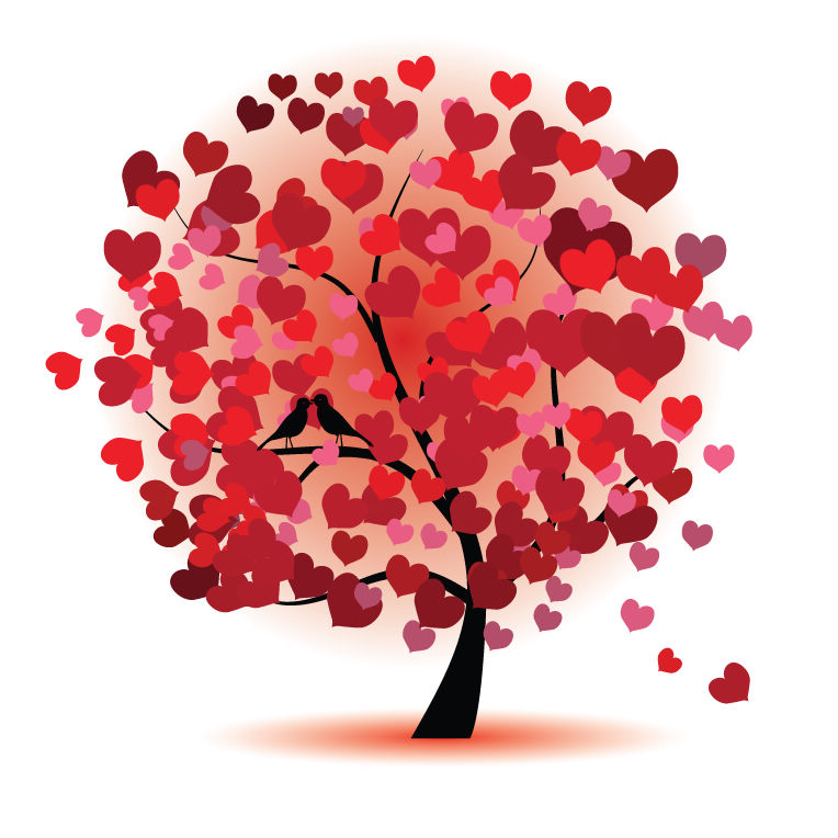 free vector Abstract Love Tree Vector Graphic