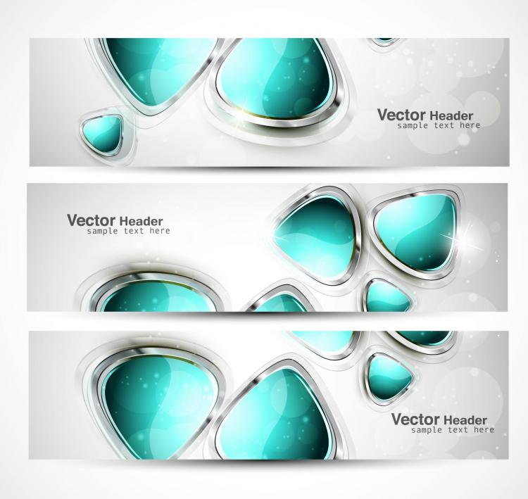 free vector Abstract modern graphics banner01 vector