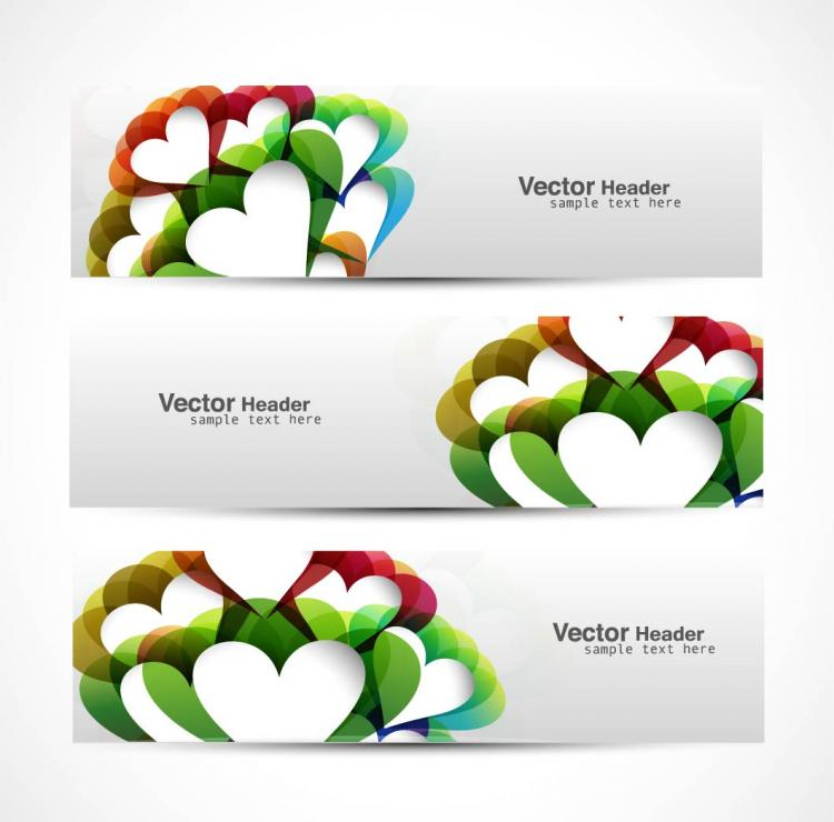 free vector Abstract modern graphics banner03 vector