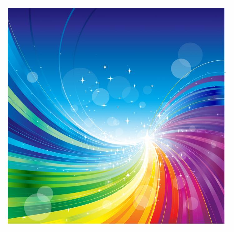free vector Abstract rainbow colors wave background.