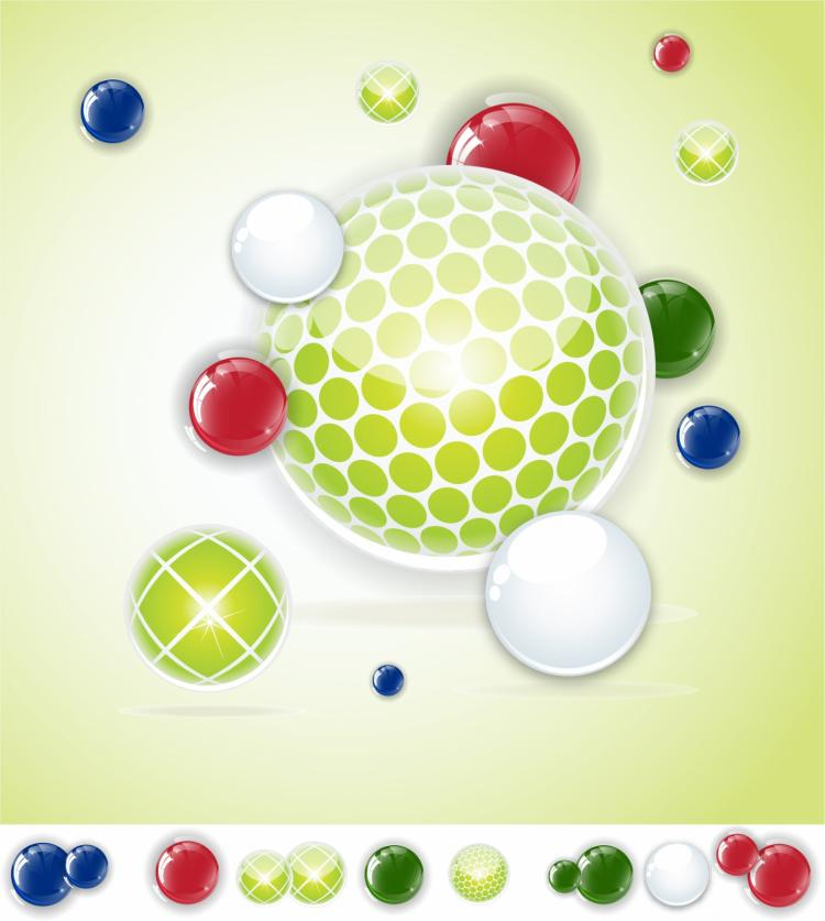 free vector Abstract spheres