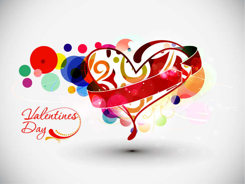 free vector Abstract Valentine's Day Vector Art