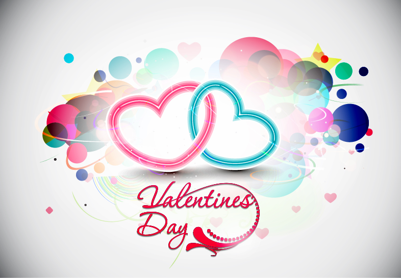free vector Abstract Valentines Day Vector Illustration