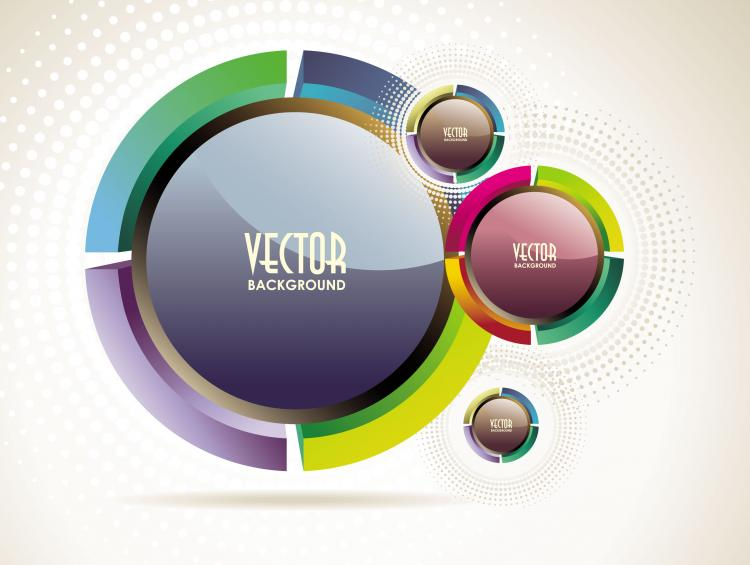 free vector Abstract vector background object 02 vector