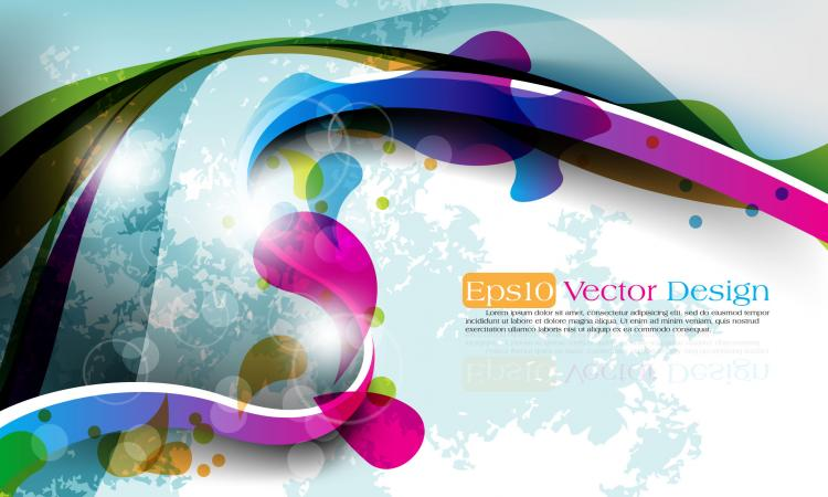 free vector Abstract vector background object 05 vector