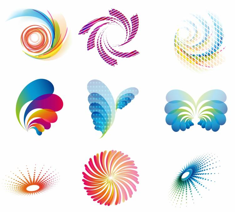 free vector Abstract wave icons