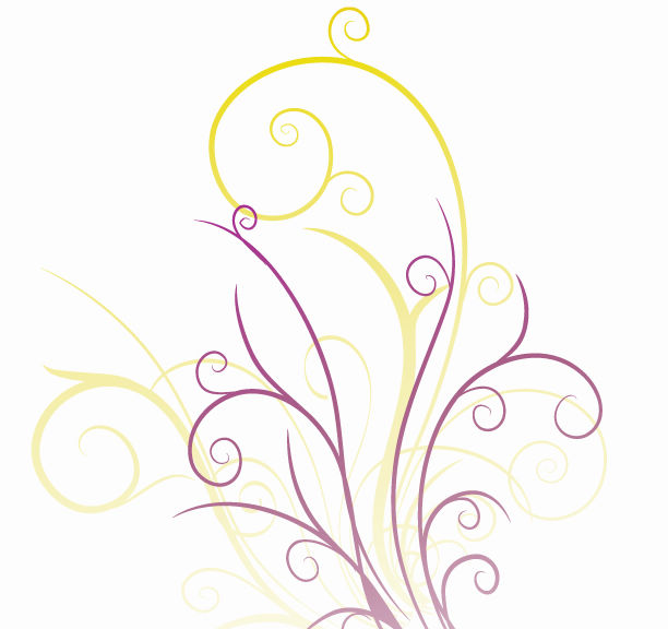 free vector Abstraction with Floral Swirls Vector Graphic