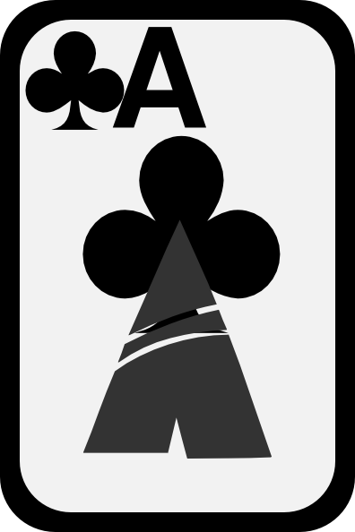 free vector Ace Of Clubs clip art