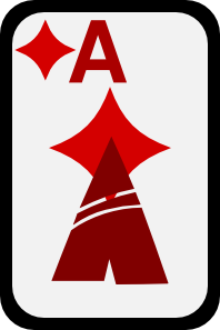 free vector Ace Of Diamonds clip art
