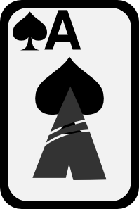 free vector Ace Of Spades clip art