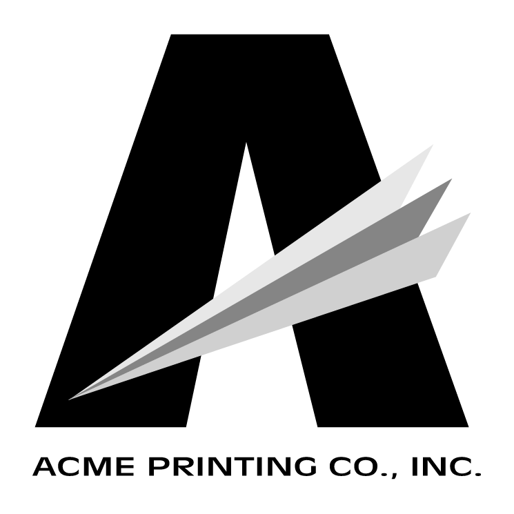free vector Acme printing