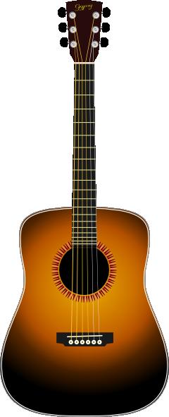 acoustic guitar clip art free vector 4vector rh 4vector com acoustic guitars clipart images acoustic guitar images clipart