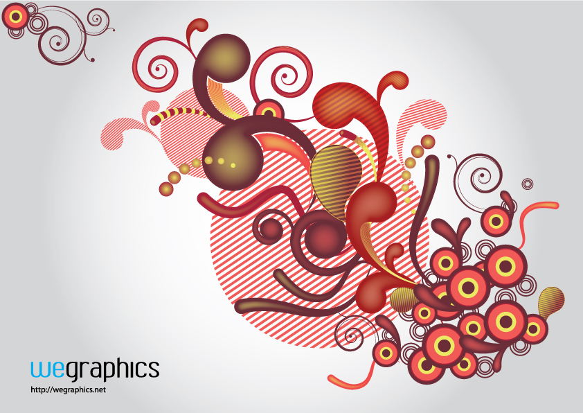 free vector Active elements of the trend vector
