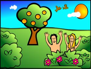 free vector Adam Eve Happy clip art