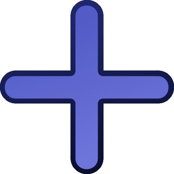 free vector Add Blue clip art