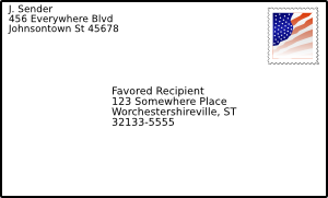 free vector Addressed Envelope With Stamp clip art