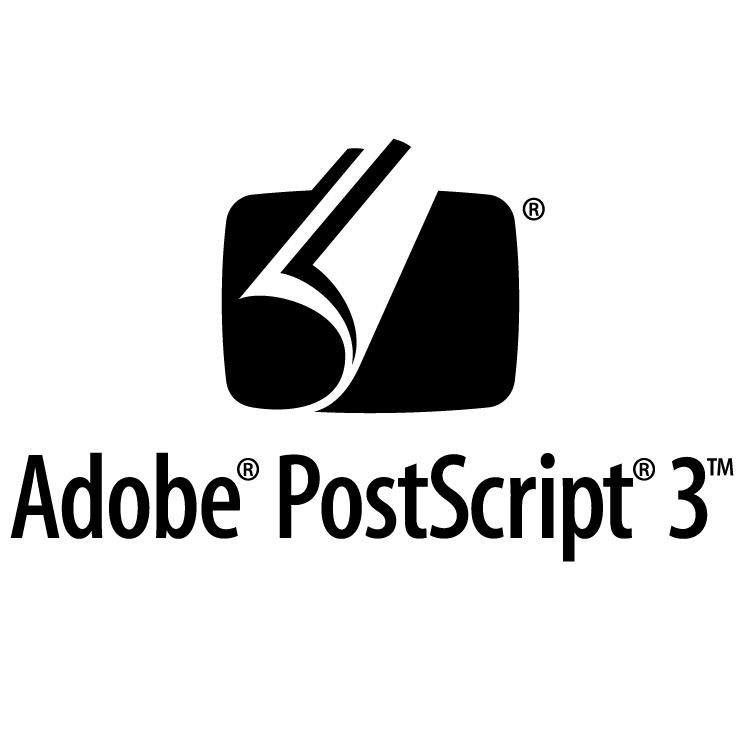 free vector Adobe postscript 3