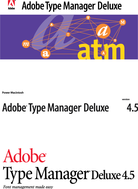 free vector Adobe Type Manager logos