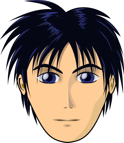 free vector Adult Person Anime Cartoon Head clip art